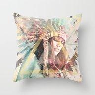 IND Girl Throw Pillow