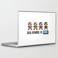 mario Laptop & iPad Skins featuring Mario by PixelPower