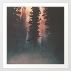 Smokey Forest Art Print