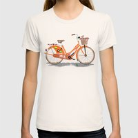 Love Holland, Love Bike Womens Fitted Tee Natural SMALL