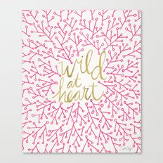 Wild At Heart – Pink &… Canvas Print