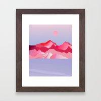 Pink Sun Blush Framed Art Print
