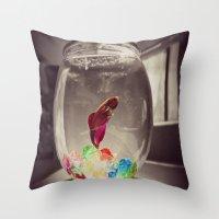 Swim in Color Throw Pillow