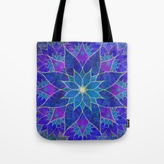 Lotus 2 - blue and purple Tote Bag
