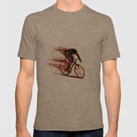 BikeCycling Mens Fitted Tee Tri-Coffee SMALL
