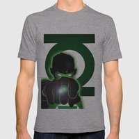 Green Lantern Mens Fitted Tee Athletic Grey SMALL