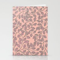 Leafy Pattern Stationery Cards