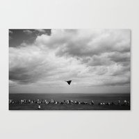 Vulcan Bomber Scarborough Fly-by Canvas Print