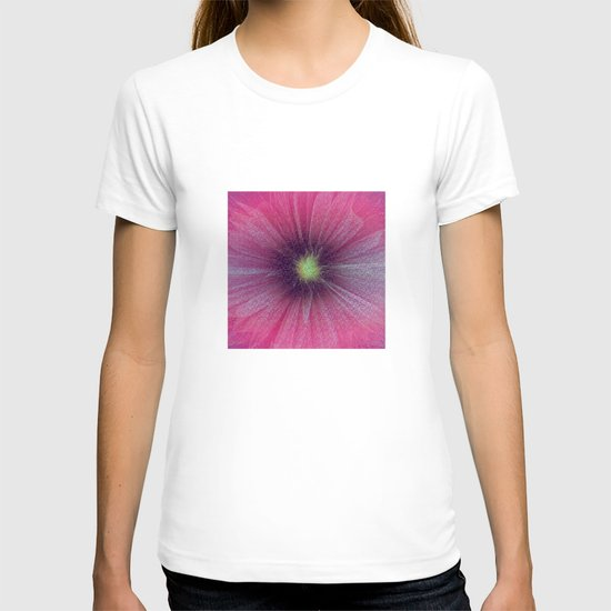 Abstract Flower - pink T-shirt