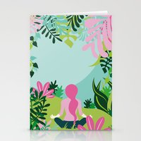 Yoga Garden Stationery Cards