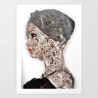 butterfly woman Art Print