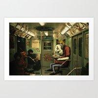 metro monster Art Print