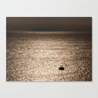 Out In The Metallic Sea Canvas Print