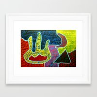 Aboriginal Art - Hand of Friendship Framed Art Print