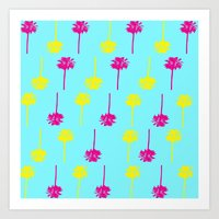 Palm Tree Madness  Art Print