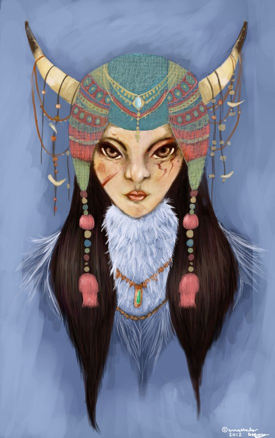 Mongolian Princess Art Print