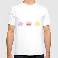 Pastel Macarons Mens Fitted Tee White SMALL