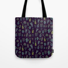 Dark Watercolour Cactus Tote Bag