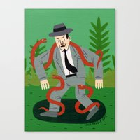 Man With Snakes Canvas Print
