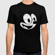 Felix The Cat 2 Mens Fitted Tee Black SMALL