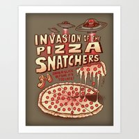 Invasion Of The Pizza Sn… Art Print