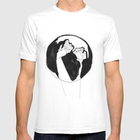 Moonlight Hands Mens Fitted Tee White SMALL