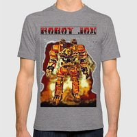 Robot Jox Mens Fitted Tee Tri-Grey SMALL