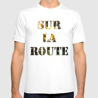 Sur La Route Mens Fitted Tee White SMALL