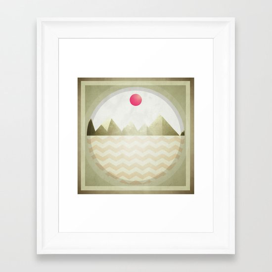 Pinked Sands Framed Art Print