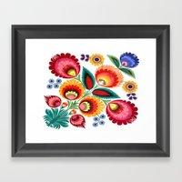 Slavic Folk Pattern Framed Art Print