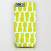 iPhone & iPod Case featuring Pineapple Pattern by Allyson Johnson