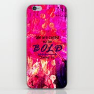 iPhone & iPod Skin featuring CALLED TO BE BOLD Floral… by The Faithful Canvas