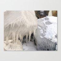 Frozen Stones Canvas Print
