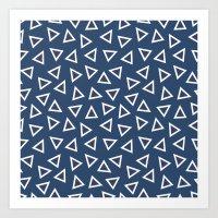 Triangle Spots Art Print