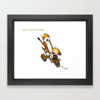 Captain Cal and a Tiger named Hobbes Framed Art Print