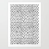 Polka Dot Rain Art Print