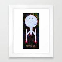 Boldly Go. Framed Art Print