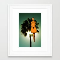 Palm Tree Girl  Framed Art Print