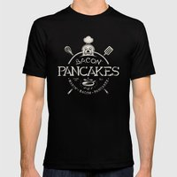 Bacon Pancakes Mens Fitted Tee Black SMALL