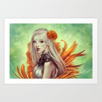 Miss Flowergarden Art Print
