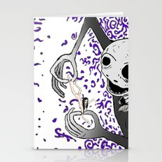 Abstract contact Stationery Cards