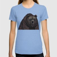 Bear   Womens Fitted Tee Athletic Blue SMALL