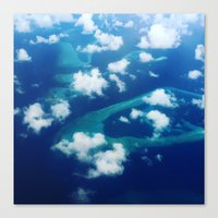 Islands and Clouds Canvas Print