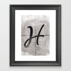 - H - Framed Art Print