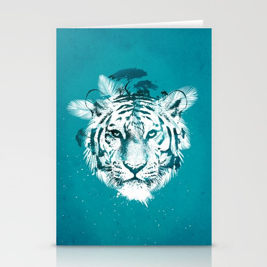 White Tiger Stationery Card
