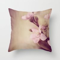 Pink Sentiments Throw Pillow