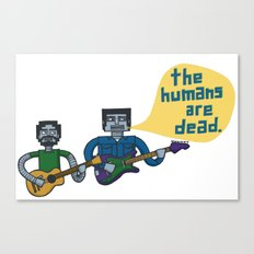 Conchords Robots Canvas Print