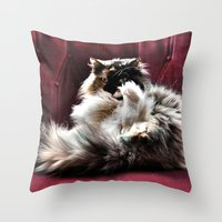 Don't be so serious  Throw Pillow