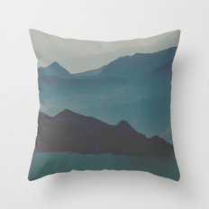 Blue valley Throw Pillow