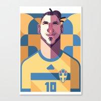 ZI10   Blågult Canvas Print